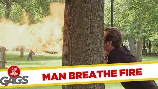 Man Breathes Fire Prank  Throwback Thursday