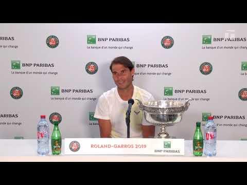 Rafael Nadal Press conference after his victory at Roland Garros 2019