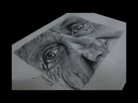 old man drawing youtube