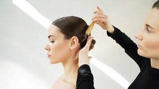 a low, sleek bun. | @hairbydarbie | Christa B. Allen | Christabrittany
