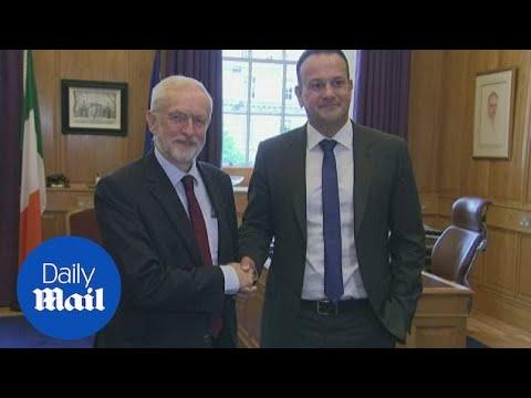Jeremy Corbyn meets with Taoiseach Leo Varadkar in Dublin