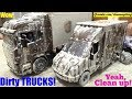 Dirty TOY CARS! Car Wash Playtime with the Kids. UPS Delivery Trucks. Family Toy Channel