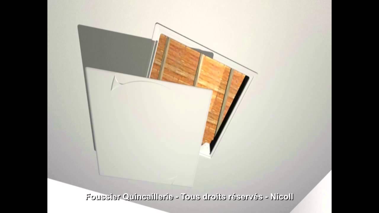 nicoll trappe de plafond youtube. Black Bedroom Furniture Sets. Home Design Ideas
