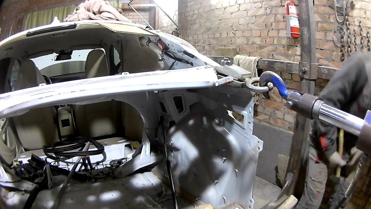 Volvo S60.Удар в зад.Кузовной ремонт.Часть2