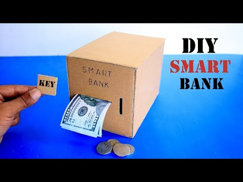 How to Make DIY Smart Personal Bank from Cardboard Homemade Bank Saving Coin and Cash