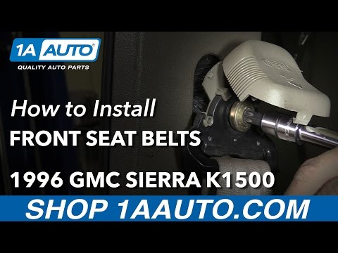 How to Remove Reinstall Front Seat Belts 1996 Extended Cab GMC Sierra K1500