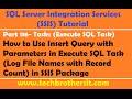 SSIS Tutorial Part 116-Insert File Names & Record Count in SQL Table after Loading in SSIS Package