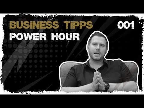 business tipps #001 - Das Konzept der Power Hour - Endlich mal in Ruhe arbeiten