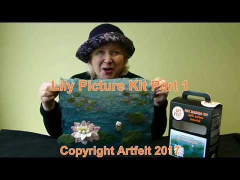 How to make an Artfelt Water Lily Felt Picture inspired by Monet Part 1