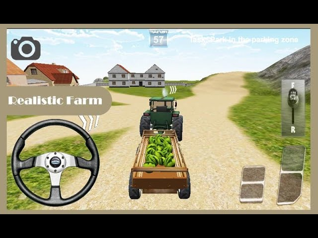 Tractor Food Transport Game Indian Tractor Game Youtube