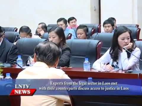 Lao NEWS on LNTV: Experts from the legal sector in Laos  discuss access to justice in Laos.28/8/2015