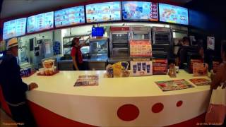 Buying Chicken At Kentucky Fried Chicken In Puebla Mexico 2017