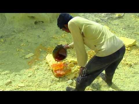 Mining Sulfur At Kawah Ijen, Java, Indonesia