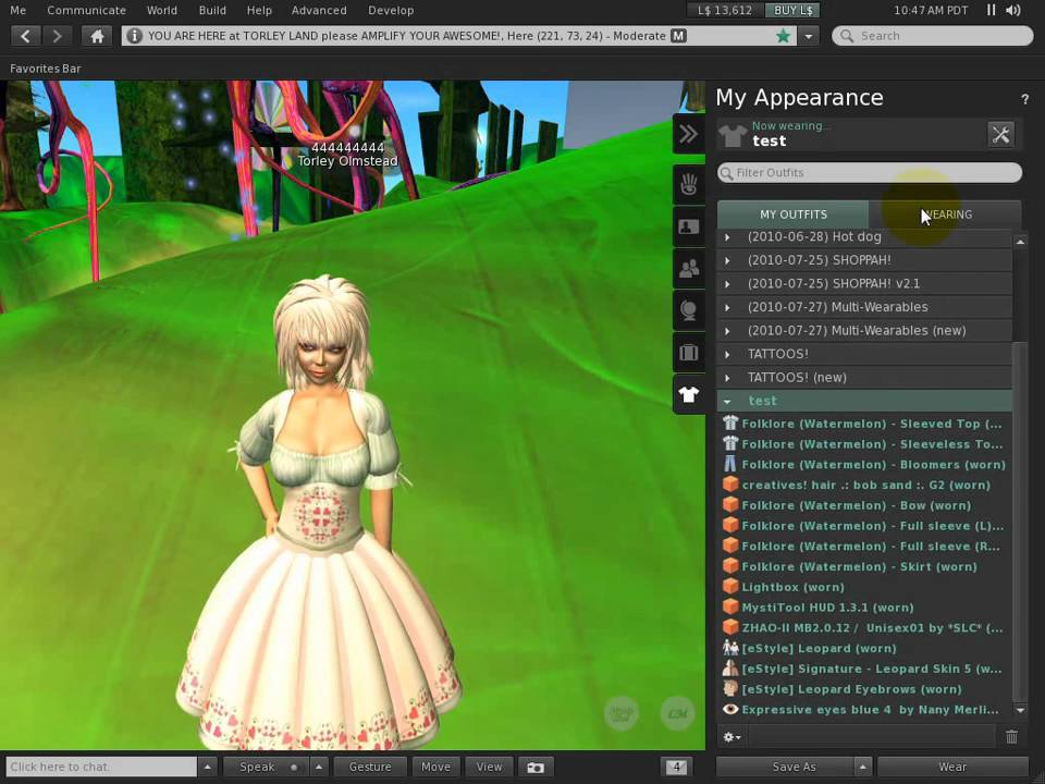 Undo for accidental outfit changes - Second Life Viewer 2.1 Tutorial - Undo for accidental outfit changes - Second Life Viewer 2.1 Tutorial