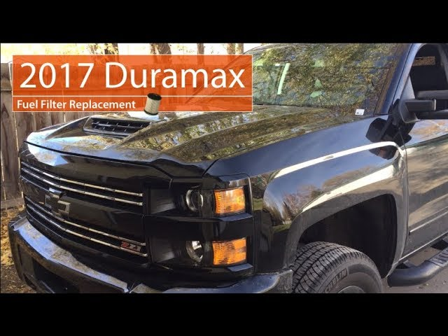 2017 DURAMAX Fuel Filter Replacement (L5P) - YouTube