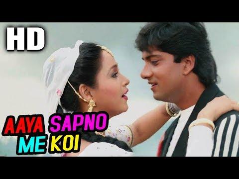 aaya-sapno-me-koi- -alka-yagnik- -vapsi-saajan-ki-1995-songs- -ashwini-bhave