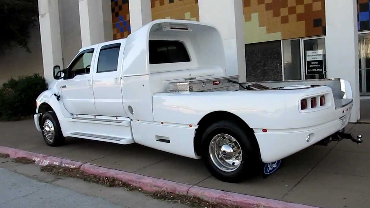 Ford F750 Super Duty >> Ford Super CrewZer Cat Diesel Allison Automatic only 48k miles for sale - YouTube