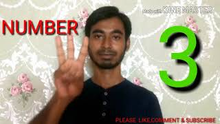 How to Learn Indian Sign Language (Numbers) Part 4  with Kamrul. By soif Ali.