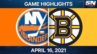 NHL Game Highlights   Islanders vs. Bruins - Apr. 16, 2021