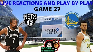 We are live! it is game 27 of the warriors season and have a big one! got kd nets marching into chase center for an opening night rematch! can ...