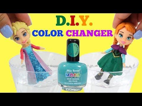 Disney Frozen 2 Princess Anna & Elsa D.I.Y. Nail Polish Color Changing Makeover