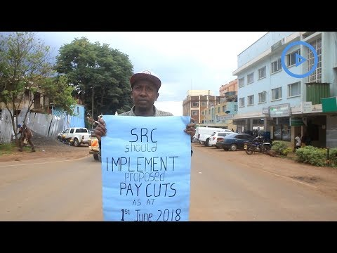 Nyeri man in lone demo demanding pay cuts for public servants
