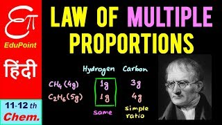 LAW of MULTIPLE PROPORTIONS in CHEMICAL COMBINATION || John Dalton || in HINDI