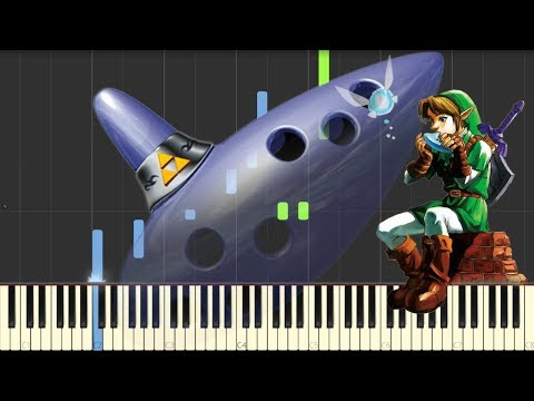 The Legend of Zelda: Ocarina of Time - Title Theme - Piano (Synthesia)