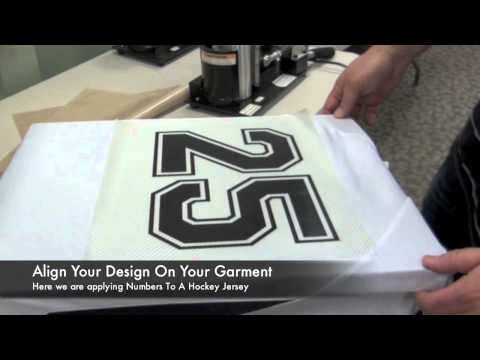 Applying Digicut Vinyl To Sports Jerseys