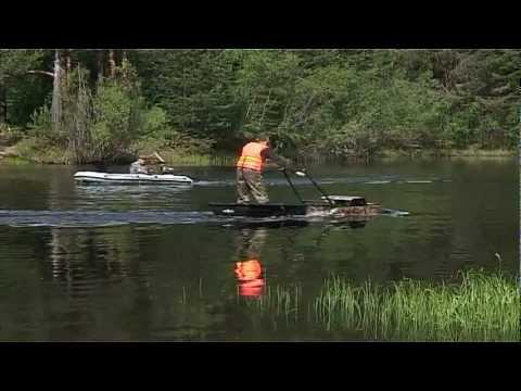 собака для рыбалки на одной гусенице