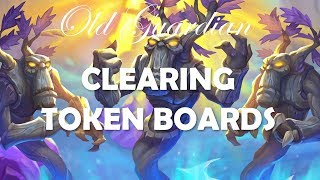 Clearing token boards (Hearthstone Rise of Shadows Control Warrior gameplay)