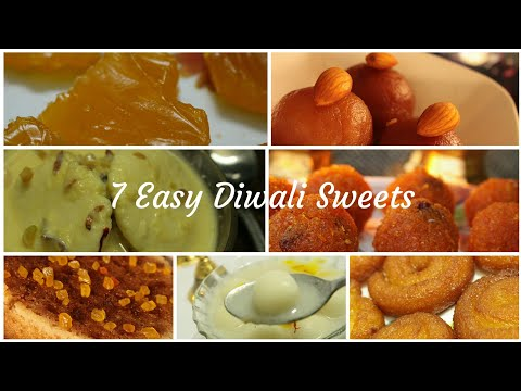 Diwali sweets recipe - Easy sweets recipe - 7 Easy sweets for Diwali - Diwali Sweets and snacks