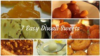 Diwali sweets recipe - Easy sweets recipe - 7 Easy sweets for Diwali - Diwali Sweets and snacks