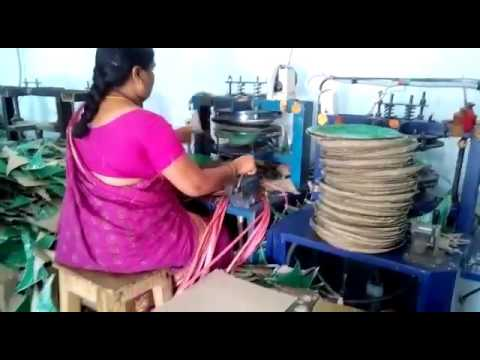 Paper plate making machine - YouTube