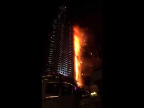 Großfeuer in Dubai zu Silvester 2015/2016