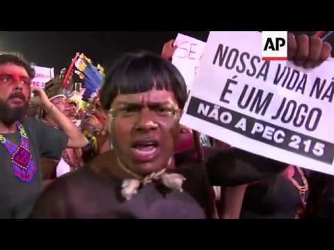 Land protest at Indigenous Games in Brazil