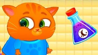 КОТЕНОК БУБУ 43 ЧЕЛЛЕНДЖ ЯДОВИТЫХ ЦВЕТНЫХ КОКТЕЛЕЙ Виртуальный Котик для детей ПУРУМЧАТА