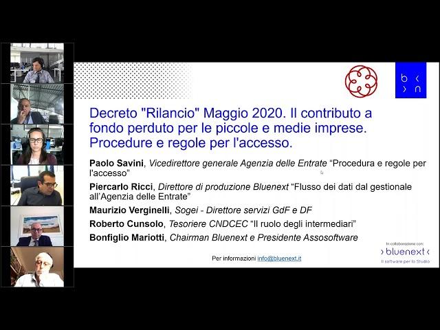 Decreto 'Rilancio' Maggio 2020  Il contributo a fondo perduto per le piccole e medie imprese