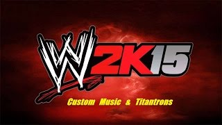 How to add custom titantrons to wwe 2k15
