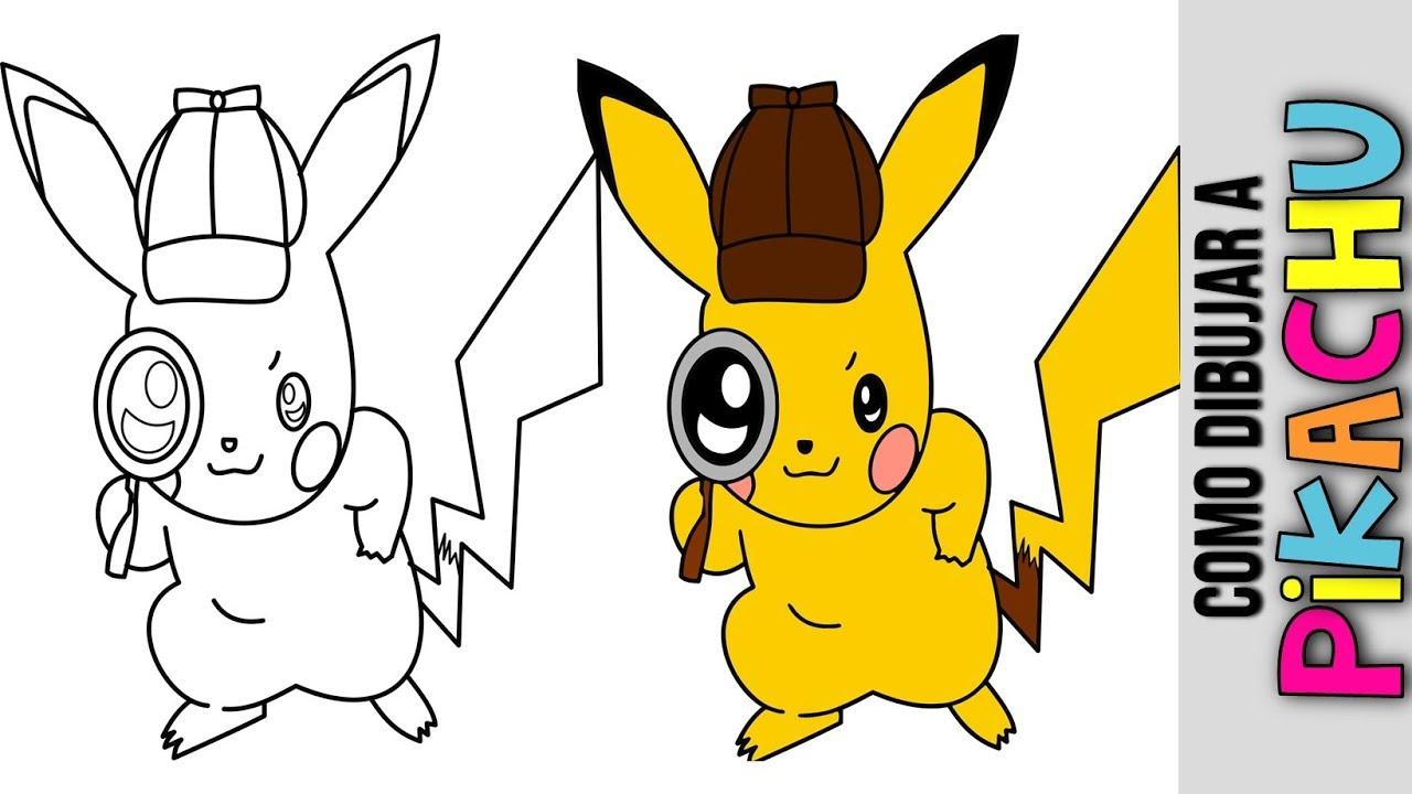 Pokemon Go Como Dibujar A Pikachu Detective How To Draw Pikachu Actualizacion Update