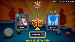 20B Coins | ALL IN Match!!!! Monaco lounge | 8 ball pool by miniclip.