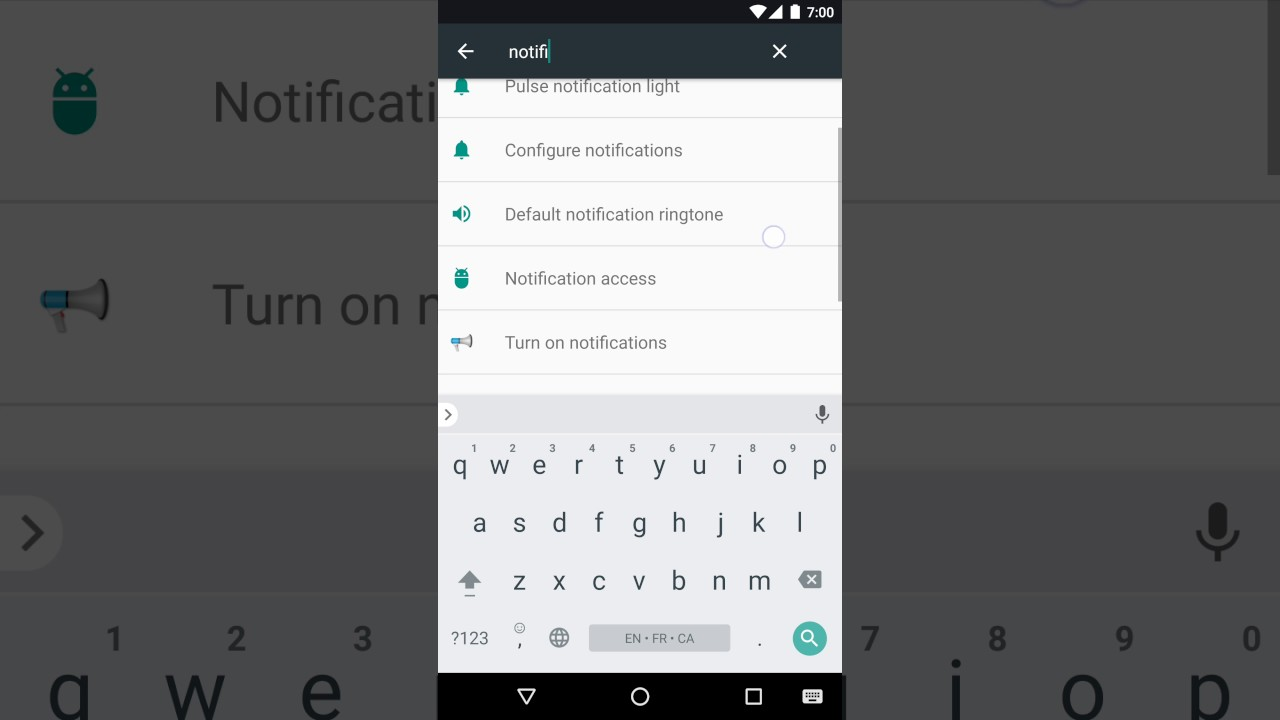 Enable notification access for Mobile Tracker Free