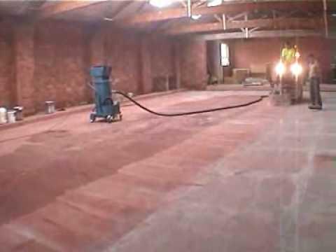 Concrete Polishing Removing Paint And Exposing Aggregate Schibeci 827de Grinder 7500
