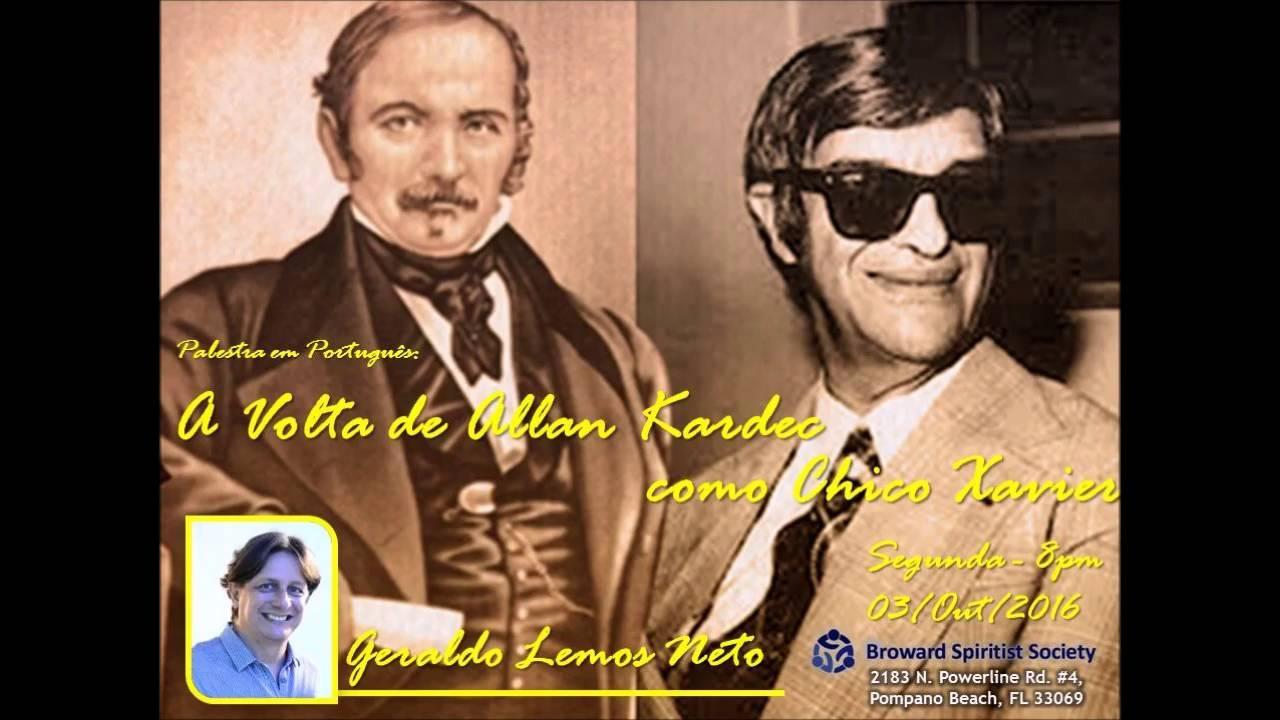 Geraldinho: A volta de Allan Kardec como Chico Xavier (palestra 2 partes - EUA)