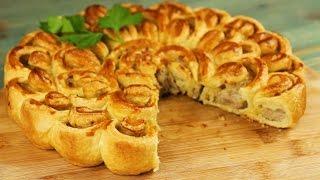 Пирог с мясом «Хризантема» - Рецепты от Со Вкусом