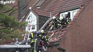 Dachstuhlbrand in der Westerländer Innenstadt