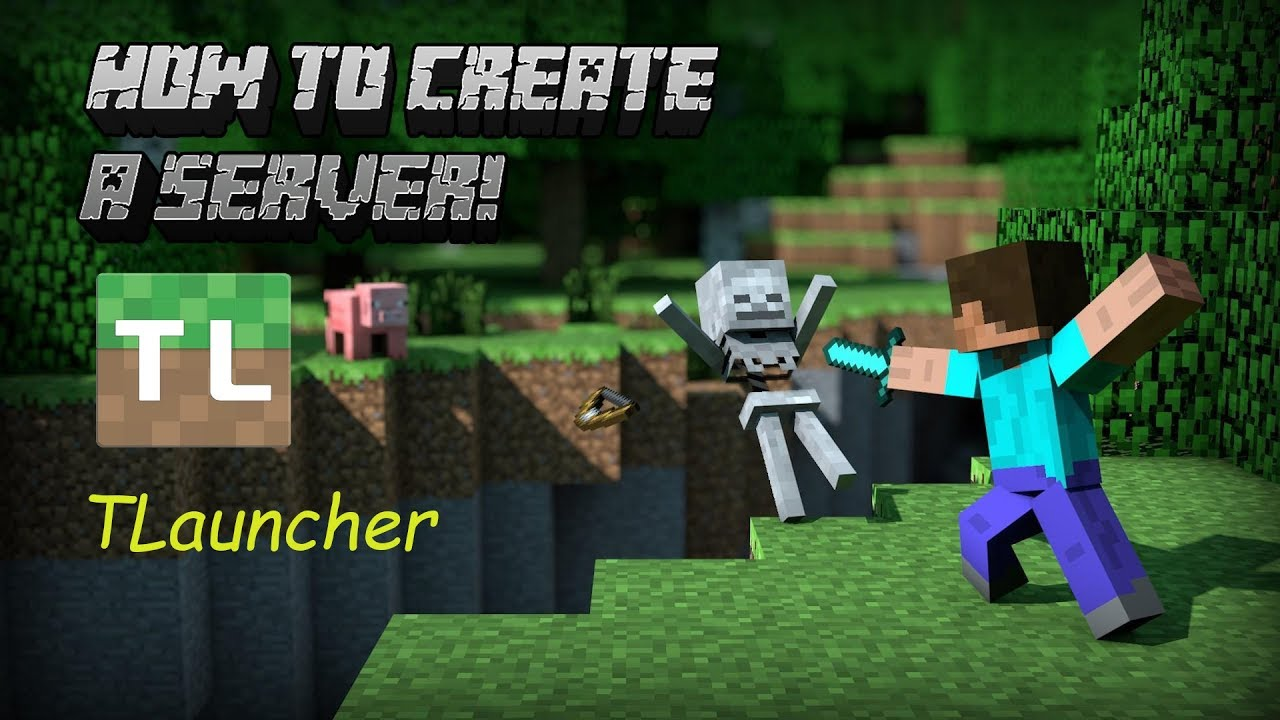 How to make your own Minecraft 10.1010.10 Server! [TLauncher/cracked]