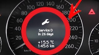 Як скинути нагадування про сервіс? Мерседес Бенц E-Класу W211 / Скидання Сервісного Індикатора Для W211