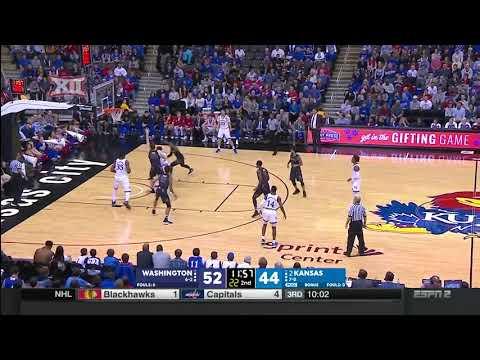 Washington vs Kansas Men's Basketball Highlights
