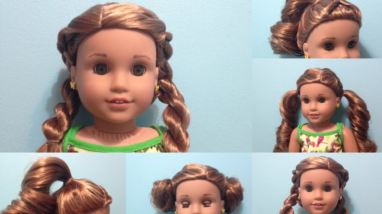 American Girl Doll Hairstyles Lea S Pj Youtube
